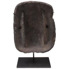 """Ancient Inuit Eskimo Stone """"Qulliq"""" Whale Oil Stove Cooker"""