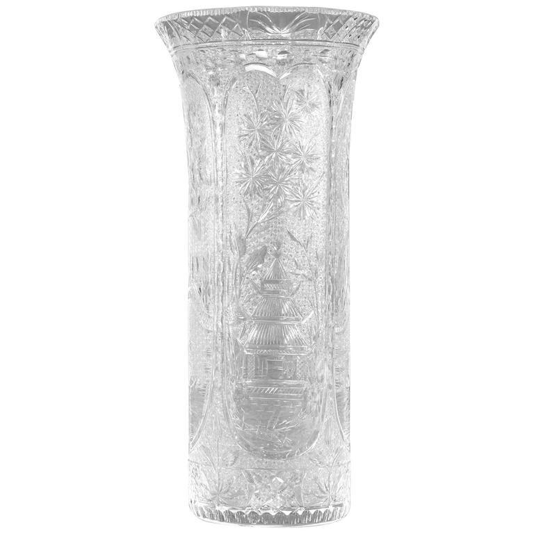 Stevens & Williams All-Over Willow Pattern Vase