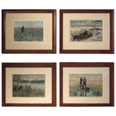 19th Century Sporting Prints by A.B. Frost Set of Four