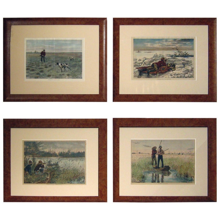 19th Century Sporting Prints by A.B. Frost Set of Four For Sale
