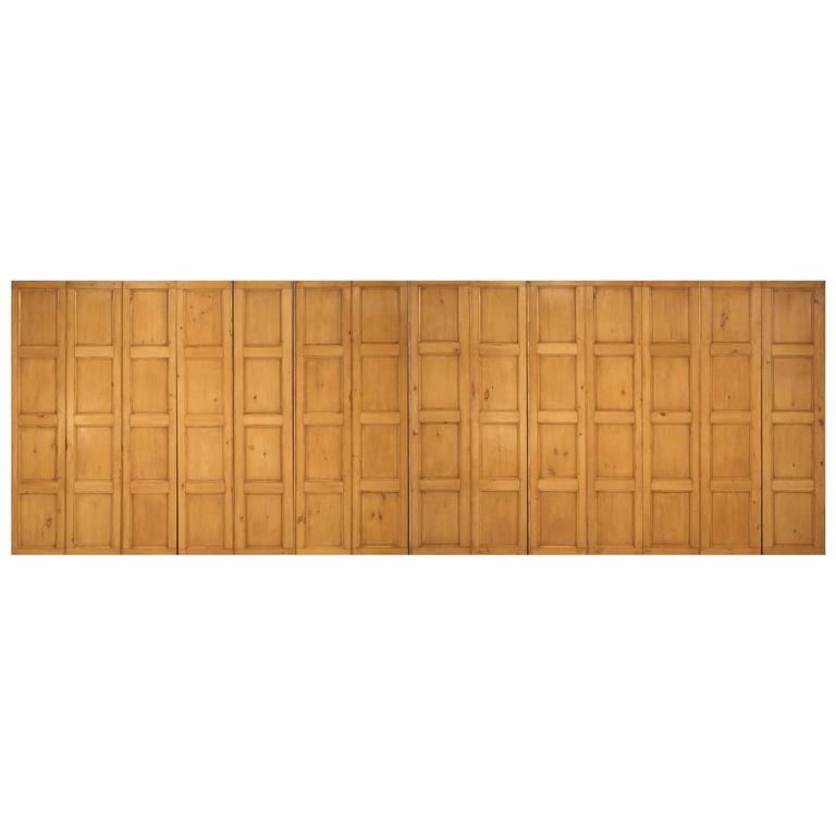 Antique Irish Pine Paneling C1837 ''14'' Panels