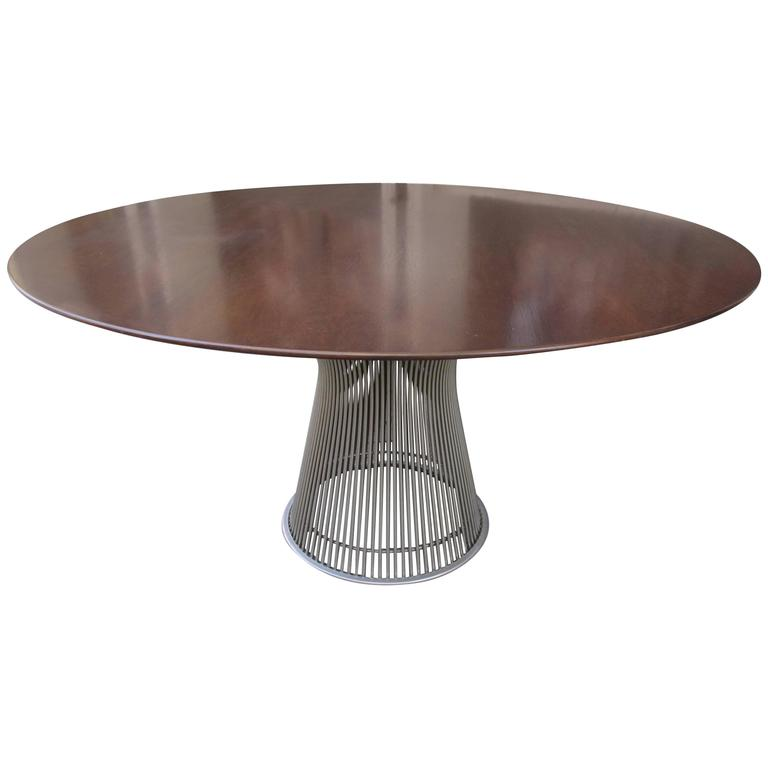 Warren Platner for Knoll Rosewood Dining Table For Sale