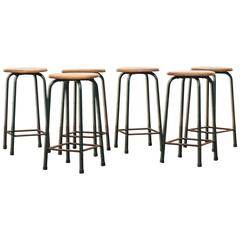 Set of Six Industrial Task Stools