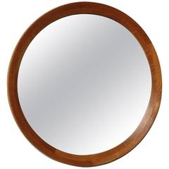 Danish 1950s Round Wall Mirror #6