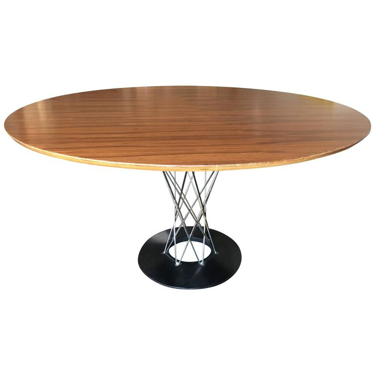Isamu Noguchi Walnut Cyclone Dining Table Knoll For Sale