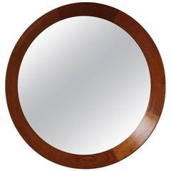 Danish 1950s Round Wall Mirror #7