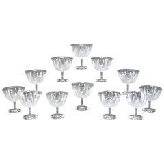 12 Dorflinger Kalana Lily Supremes Footed Dessert Coupes