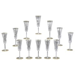 "12 St. Louis ""Apollo"" Flutes with Gold"