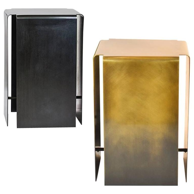 Baltic Side Tables Made from Lightened or Darkened Bronze For Sale