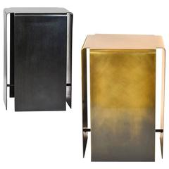 Baltic Side Tables Made from Lightened or Darkened Bronze