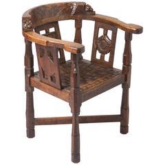 "Robert Mouseman Thompson oak ""Monk"" chair, England circa 1920"
