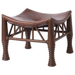 Liberty and Co mahogany Thebes stool, London circa 1900