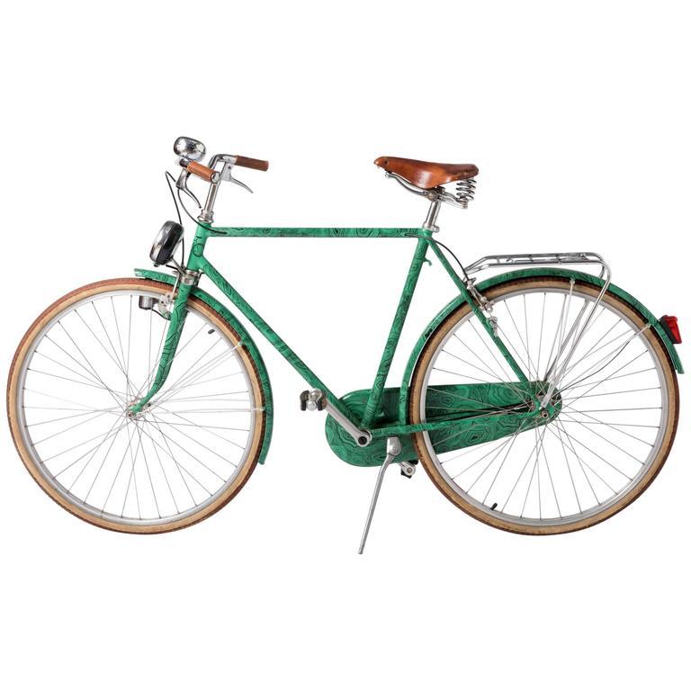 """Piero Fornasetti """"Malachite"""" bicycle, Italy 1984"""