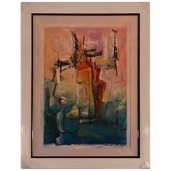 "Signed Original David Schluss ""Abstract Reflections"""