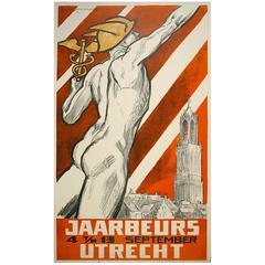 Dutch Industrial Fair Poster by Louis Raemaekers, circa 1940