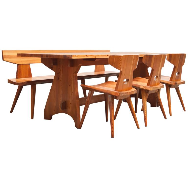 Pine Dining Set By Jacob Kielland Brandt For I