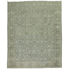 Antique Persian Tabriz in Silver Color