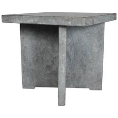 Stone Square Table (Black Stone) by Robert Kuo, Limited Edition
