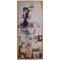 1979 Robert Rauschenberg Exhibition Poster, Artist Signed with B&W Photo