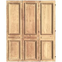 Three Large French Louis XVI Doors in Pine, circa 1800