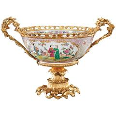 French Ormolu-Mounted Chinese Porcelain Centerpiece, 19th Century