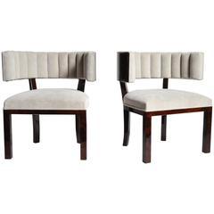 Pair of Hungarian Horseshoe Back Chairs