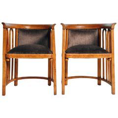 Pair of Sitzmaschine Chairs by Josef Hoffmann