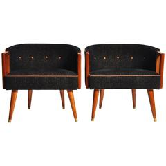 Pair of Round Back Chairs