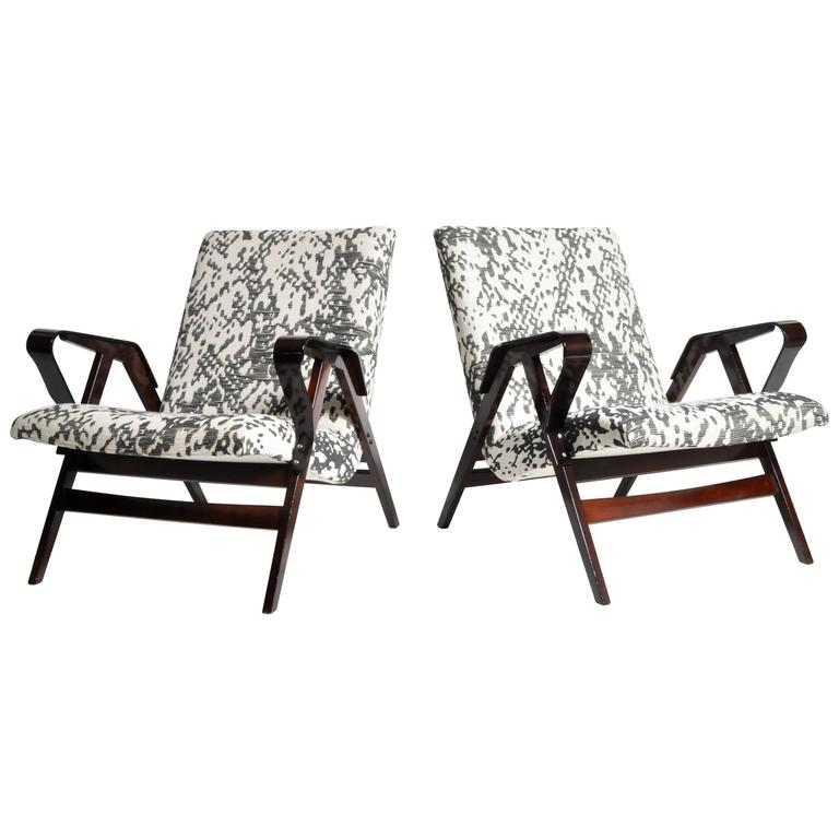 Pair of Mid-Century Hungarian Armchairs