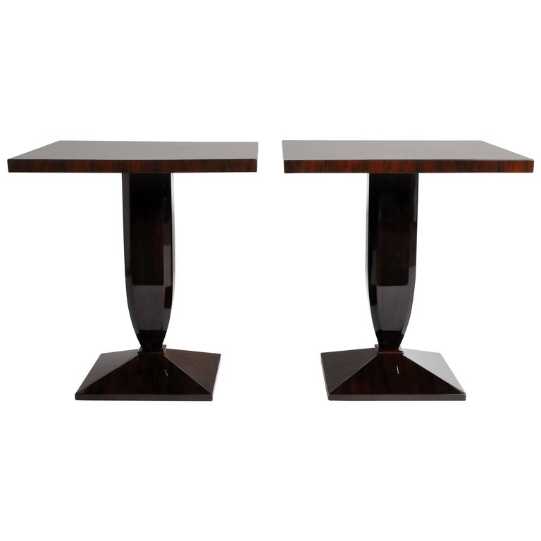 Art Deco Style Square Side Tables
