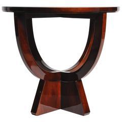 Round Table with Walnut Veneer