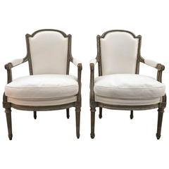 Pair of French Louis XVI Style Armchairs, circa 1880