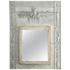 French Louis XVI Style Trumeau Mirror, circa 1800
