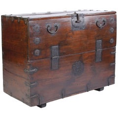 Large 19th Century Korean Bandaji Chest