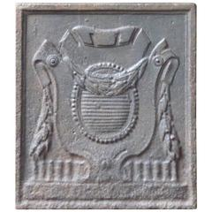 French 'Coat of Arms' Fireback
