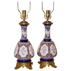 French Porcelain Table Lamps