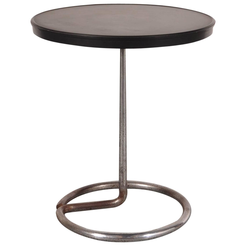 Art Deco Side Coffee Table by Rene Herbst Bakelite 1940 For Sale