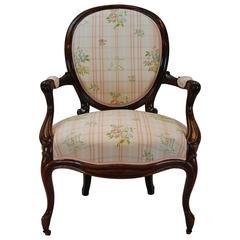 19th Century American Victorian Armchair, circa 1860-1880