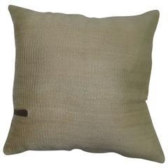 Ivory Mohair Rug Pillow