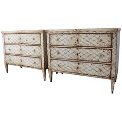 19th Century French Decoratively Painted Chest