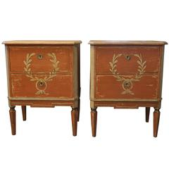 19th Century Pair of Small Gustavian Chests from Scandinavia
