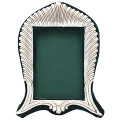 Unusual Victorian Sterling Silver Picture Frame