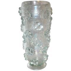 Barovier & Toso Iridescent Art Deco Crystal Vase