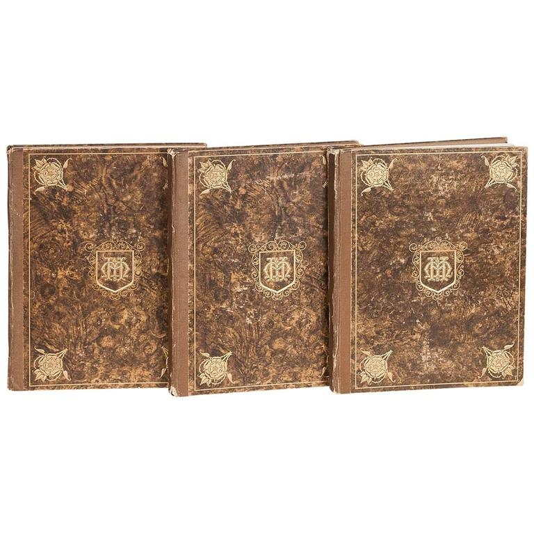 Moss Harris & Sons Catalogue and Index of Old Furniture in Three Volumes For Sale