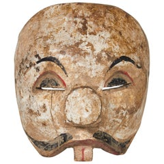 Early 20th Century Balinese Clown Mask with Original Paint
