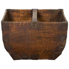 Antique Chinese Rice Measure Basket