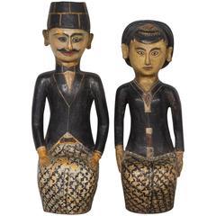 Antique Loro Blonyo Wedding Couple from Java