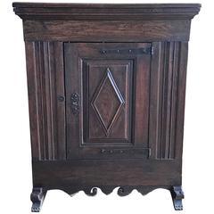Antique Spanish End Table, circa 1815