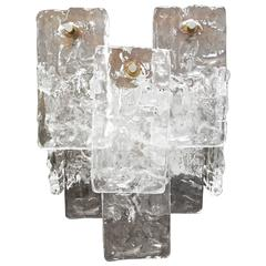 Ice Glass Wall Light, Sconce by Kalmar