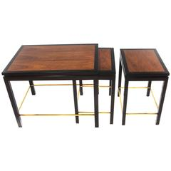 Set of Three Nesting Tables by Edward Wormley for Dunbar, circa 1950s